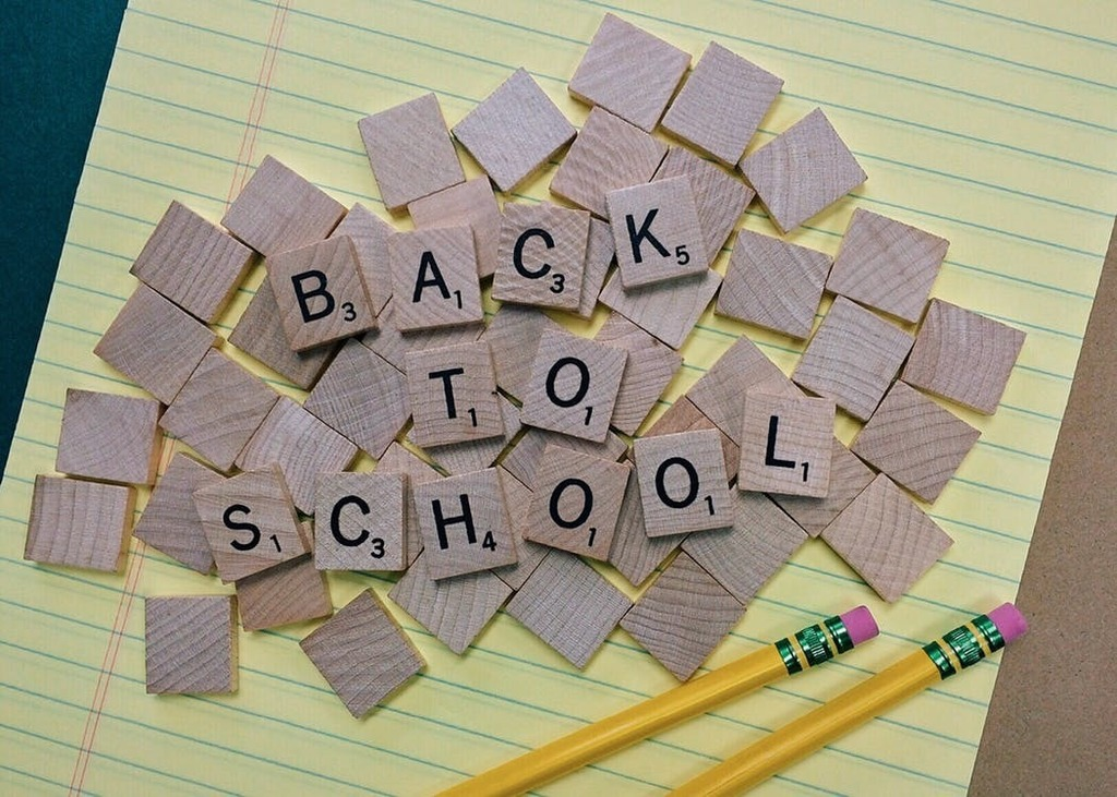 "An image of Scrabble tiles spelling out, ""Back to School."""