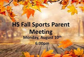 HS Fall Parent Meeting